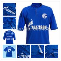 Top A+++ schalke 04 2014 15 home blue soccer jerseys schalke Football jersey,Thailand quality