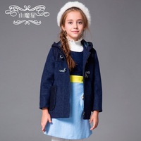 Children's clothing  autumn and winter carrick-bend clasp thickening outerwear cotton-padded with a hood  child Jackets