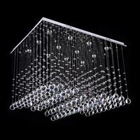 Free shipping new item Modern square design crystal chandelier lustres de cristal for living room L80*W60*H100cm indoor lighting