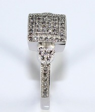 Square Platinum Plated Wedding Ring Aneis Femininos Simulated Diamond Ring Cubic Zirconia Ring Set Alliances Of