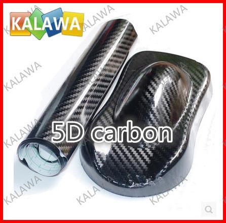 1 pc 1.52x0.5Meter 5D carbon fiber vinyl film car wrap film 5D carbon fiber car sticker free shipping TTT(China (Mainland))