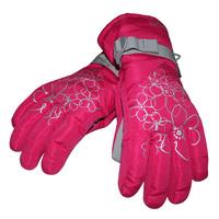 quality flower ski christmas women's ride sports gloves reflective of belt chromophous