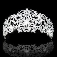 New Fashion Tiara and Crown princess crown bride head piece For Wedding bride quinceanera tiaras free shipping CY-015