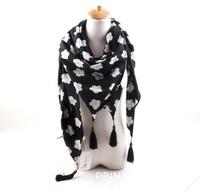 Autumn and winter new European and American minimalist black white scarf big scarf shawl wholesale ladies wild