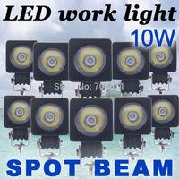 10x10W Round CREE LED Work Light Bar Spot 800LM Driving Reverse 4WD Lamp 12V 24V