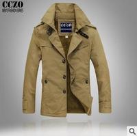 2014 Men's brand fashion casual Winter thick outdoor Jacket Cotton coat Top quality super warm Plus size M-XXXL Wholesale&Retai