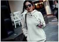 New 2014 Women Hoody Sweatshirt Plus Size Fashion Girls Hoodies Winter Outerwear Parka Coats Fleece Warm Moleton Women Pullovers