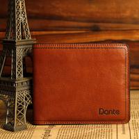 New Fashion Design Male Cowhide Short Wallet pocket  Commercial Genuine Leather Casual Men' Wallets   male money purses