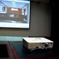 Meeting system ceiling/desktop projector lift case
