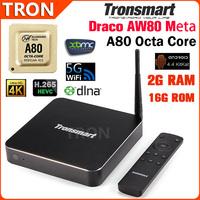Original Tronsmart Draco AW80 Meta Allwinner A80 Octa Core Android TV Box 2GB/16GB 2.4G/5G WIFI BT OTA DLNA Android 4.4