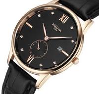 2014 New Men Luxury Brand Men Watches Casual Leather Strap Waterproof Clock Fashion Wristwatch Quartz Watch Christmas gift