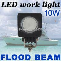 1x10W Round CREE LED Work Light Bar FLOOD 800LM Driving Reverse 4WD Lamp 12V 24V