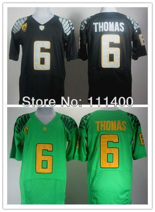 New Arrival Popular Hot Sale NCAA football jersey Oregon Ducks #6 De'Anthony Thomas black green New 2012 embroidery Logo Free Sh(China (Mainland))