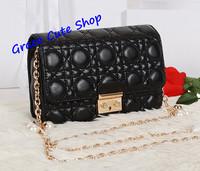 Lady Shoulder Bag Gold Chains Diamond Thread DR Mini Bag Lamskin Leather Top Quality Original Package (Dust Bag,Card)#DR6554