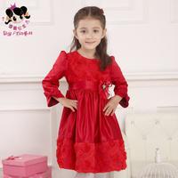 Shy Princess kids children girls winter dress 2014 new princess  Saika long sleeved dress