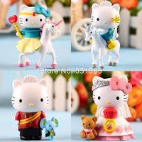 Anime Hello Kitty Prince and Princess Action Figures Cartoon Collectible PVC Toys Girls Dolls