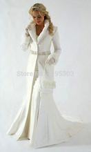 2014 vendita calda di alta qualità del collo con pelliccia sintetica trim lunga per la sposa matrimonio d'inverno mantello del capo nizza 100%(China (Mainland))