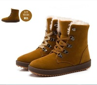 Free shipping 2014 Fashion Wool Warm Women's Winter Snow Boots Martin Shoes Size 4 to 9