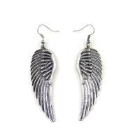 ED1168 Accessories wholesale Angel wings silver earrings 4pcs/lot