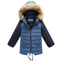 New 2014 Winter Spring Kids Coats&Jackets Children With Hood Duck Down Outerwear Baby Boy Coat Jackets