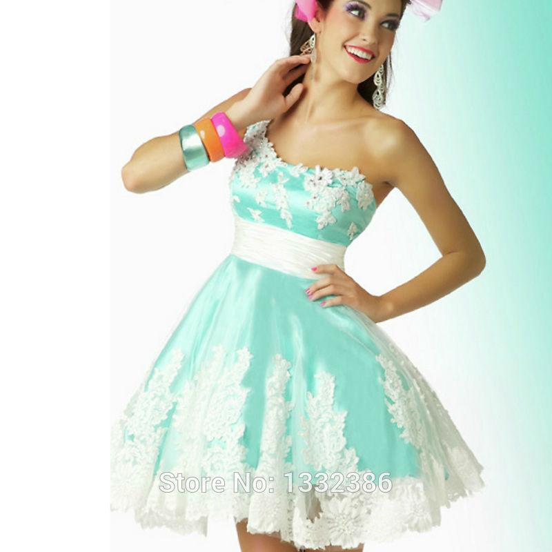 Blue Off The Shoulder Prom Dress Blue-short-prom-dresses