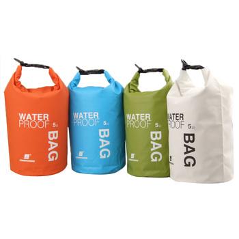 Новое поступление! 5L сверхлегкий на открытом воздухе отдых путешествия рафтинг водонепроницаемый сухой сумка плавание комплекты оранжевый / белый / зеленый / синий