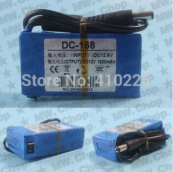 1800mAh DC 12V Super Rechargeable Lithium-ion Battery Pack US/UK/EU Plug--Free shipping(China (Mainland))