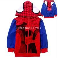 wholesale /lot spiderman hoodies boys cartoon sweatshirt boys hoodies brand boy sweatshirt baby clothes children's sweatshirts