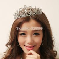 2015 new fashion crystal beauty tiaras rhinestone wedding bridal tiara wholesale wedding crown frontlet  jewelry