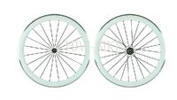 High Performance 700c carbon fiber 50mm white clincher/tubular road bike wheelset, Aluminum Alloy brake surface bicycle wheelset
