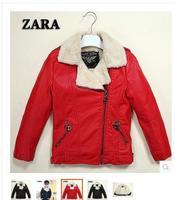 2014 autumn/winter boy girl children fur coat jackets lambs flocking upset with