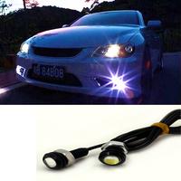 2PCS/Lot Cold White 12V 9W Eagle Eye LED Car Daytime Running Light Day time Light & Reverse Lamp Stop Parking Tail Light
