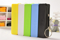Colorful 2600mAh USB External Battery Pack Power Bank for iPhone Samsung HTC Emergency charger with Micro usb cable
