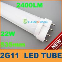 Popular 2G11 LED 24W TUBE AC100 to 240V 535mm 22Watts Brightness 2400LM LED Light CE ROHS Xmas Discount