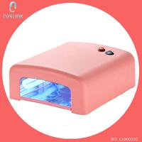 New Pink Nail Art Equipment UV Gel 36W 220V Curing Tube Light Dryer 4 X 9W Lamp