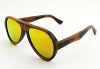 2014  Free shipping  polarized bamboo  stain sunglasses orange  revo lens gafas men women sunglasses6068