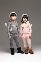 2014 winter  new style Angel Wings children Set More fashionable velveteen suit children free shipping