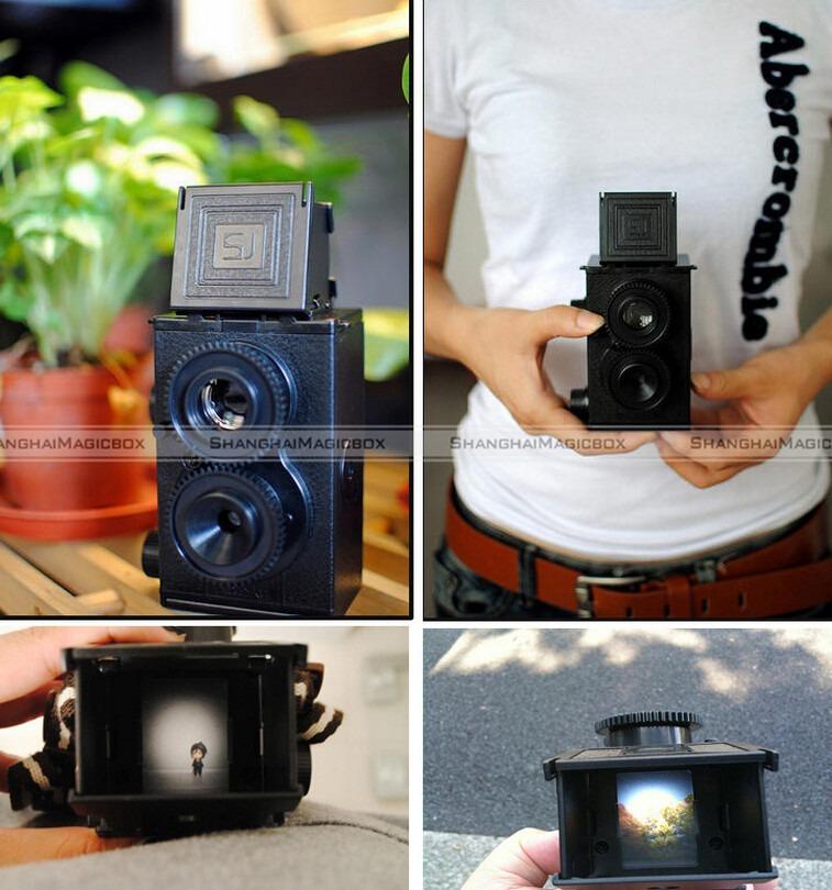 ShanghaiMagicBox DIY TLR Twin Lens Reflex Camera 35mm Gakken Lomo Holga 80214313(China (Mainland))