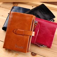 Genuine Cow Leather Wallet Fashion Purse Men' Wallets cowhide pocket bifold wallet multi credit card pocket