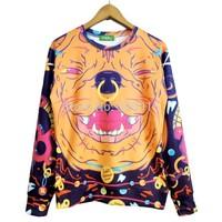 2014 New high quality fashion Women/Men Rhubarb dog cartoon Print 3D Sweatshirts Hoodies Galaxy sweaters Tops Free shipping