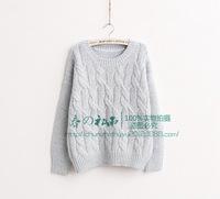 2014 New fashion women hemp flower pullovers sweaters.