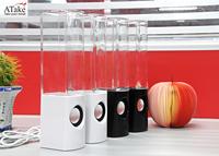 Atake Original & Top Music ONE Pair LED Water Dancing Speaker Music Fountain Light Speakers USB Water Spray Mini Speaker