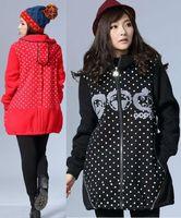 fashion women big size loose thick elegant outwear fleece long sleeves warm winter coat with hood ladies sweatshirt thick 8929