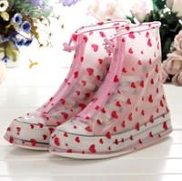 Fashin Rain Shoes Cover Platform Boots Waterproof Shoes Covers Children Girls Boots