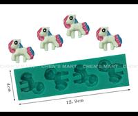 Free shipping 1 PC For My Litlle Pony Silicone Baking Fondant Cake Mold Cake Decorating Tools Baking Mould Horse