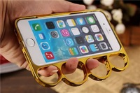 High Quality Fashion Lord Rings Knuckles Finger Phone Frame Case Cover For iPhone Apple 6 Cover Free Shipping