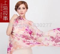 Shanghai Story   female   Watkins warm wool scarf printing