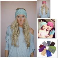 2014 Women Girl Knitted Headband Headwear Winter Warm Twist Crochet Head Wrap Ear Warmer Hair Accessories Hair Band AY852134