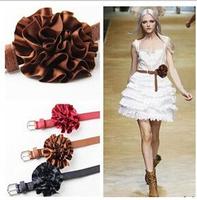 European and American fashion catwalk belts three-dimensional flowers,belts for women,mens belts luxury,women leather belt