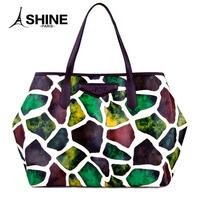 Women's handbag big bag fashion 2014 women's picture bags fashion color block handbag